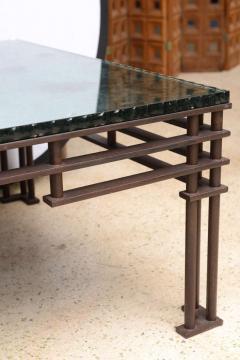 Jean Michel Wilmotte A French Modern Iron Mirrored Glass Atilla Low Table Jean Michel Wilmotte - 350294