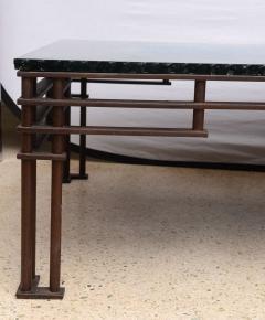Jean Michel Wilmotte A French Modern Iron Mirrored Glass Atilla Low Table Jean Michel Wilmotte - 350295