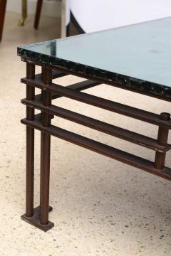 Jean Michel Wilmotte A French Modern Iron Mirrored Glass Atilla Low Table Jean Michel Wilmotte - 350298