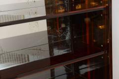 Jean Pascaud Art Deco Ebony De Macassar and Parchment Bookcase Jean Pascaud - 348534