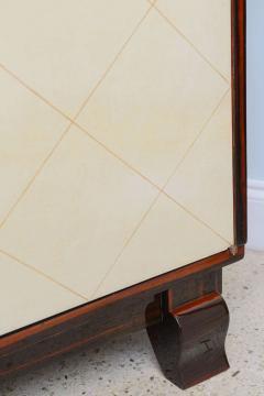 Jean Pascaud Art Deco Ebony De Macassar and Parchment Bookcase Jean Pascaud - 348537