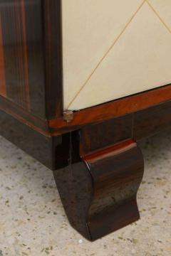 Jean Pascaud Art Deco Ebony De Macassar and Parchment Bookcase Jean Pascaud - 348538