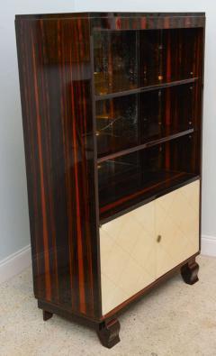 Jean Pascaud Art Deco Ebony De Macassar and Parchment Bookcase Jean Pascaud - 348539