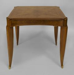 Jean Pascaud French Art Deco Light Mahogany Square Game Table - 428832