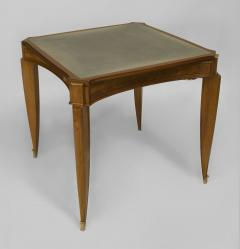 Jean Pascaud French Art Deco Light Mahogany Square Game Table - 428834