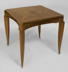 Jean Pascaud French Art Deco Light Mahogany Square Game Table - 428837