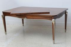 Jean Pascaud Late Art Deco Palisander Extension Dining Table by Jean Pascaud - 37659