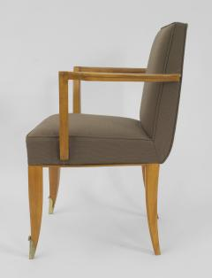 Jean Pascaud Set of 10 French 1940s Mahogany Chairs - 424863