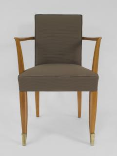 Jean Pascaud Set of 10 French 1940s Mahogany Chairs - 424864