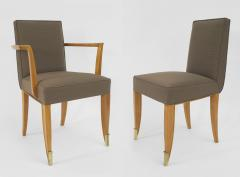 Jean Pascaud Set of 10 French 1940s Mahogany Chairs - 424865