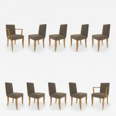Jean Pascaud Set of 10 French 1940s Mahogany Chairs - 425569