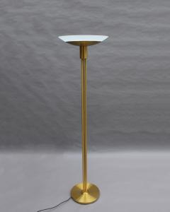 Jean Perzel 2 Fine French Mid Century Bronze and Glass Floor Lamps by Perzel - 2004656