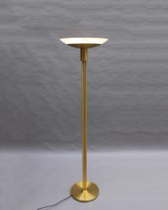 Jean Perzel 2 Fine French Mid Century Bronze and Glass Floor Lamps by Perzel - 2004658