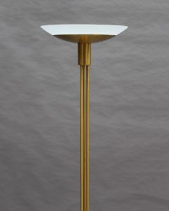 Jean Perzel 2 Fine French Mid Century Bronze and Glass Floor Lamps by Perzel - 2004679