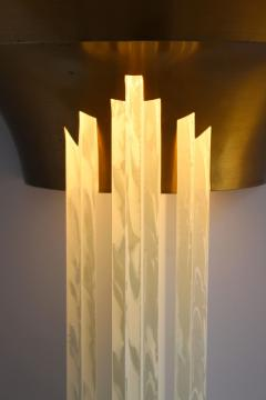 Jean Perzel A Large Fine French Art Deco Bronze Sconce with Cascading Glass Slabs by Perzel - 2067090