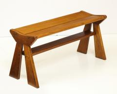 Jean Prouv French Reconstruction era solid oak bench France 1940s - 1040478