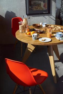 Jean Prouv Jean Prouv Gu ridon Dining Table in Smoked Oak for Vitra - 776105