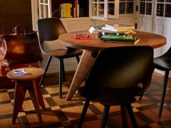 Jean Prouv Jean Prouv Gu ridon Dining Table in Smoked Oak for Vitra - 776106