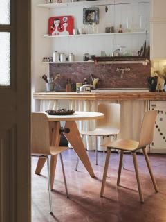 Jean Prouv Jean Prouv Gu ridon Dining Table in Smoked Oak for Vitra - 776109