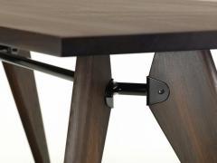 Jean Prouv Jean Prouv Table Solvay in Dark Smoked Oak for Vitra - 751325