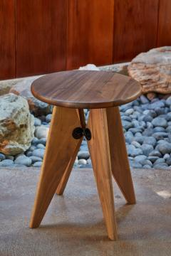 Jean Prouv Jean Prouv Tabouret Solvay Stool in American Walnut by Vitra - 1132743