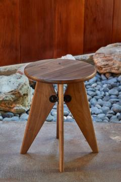 Jean Prouv Jean Prouv Tabouret Solvay Stool in American Walnut by Vitra - 1132744
