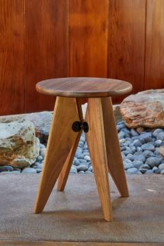 Jean Prouv Jean Prouv Tabouret Solvay Stool in American Walnut by Vitra - 1132746