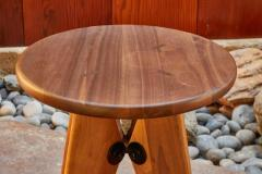 Jean Prouv Jean Prouv Tabouret Solvay Stool in American Walnut by Vitra - 1132749