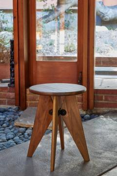 Jean Prouv Jean Prouv Tabouret Solvay Stool in American Walnut by Vitra - 1132751