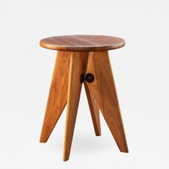 Jean Prouv Jean Prouv Tabouret Solvay Stool in American Walnut by Vitra - 1133257
