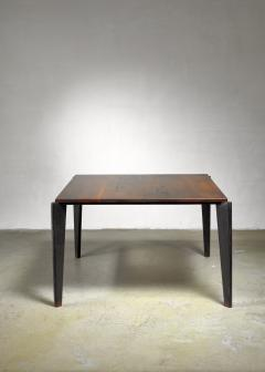 Jean Prouv Jean Prouve metal Flavigny dining table with oak top France 1940s - 1108430