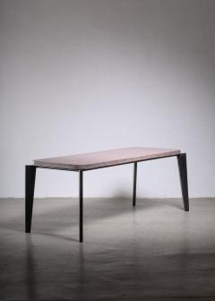 Jean Prouv Jean Prouve model 504 or Flavigny dining table with granito top - 1905914
