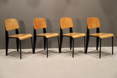 Jean Prouv Set Of Four Jean Prouv Standard Chairs 1950s - 1186321