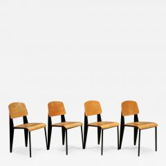 Jean Prouv Set Of Four Jean Prouv Standard Chairs 1950s - 1186795