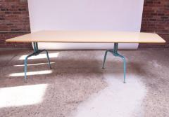Jean Prouv Vintage French Modern Laminated Plywood and Steel Adjustable Writing Table - 1765140