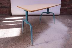 Jean Prouv Vintage French Modern Laminated Plywood and Steel Adjustable Writing Table - 1765147