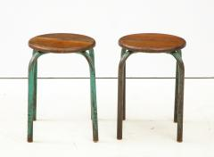 Jean Prouv Vintage Mid Century French Industrial Stools in the manner of Jean Prouve - 1865999