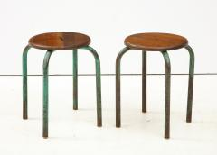 Jean Prouv Vintage Mid Century French Industrial Stools in the manner of Jean Prouve - 1866001