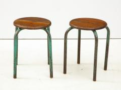 Jean Prouv Vintage Mid Century French Industrial Stools in the manner of Jean Prouve - 1866002