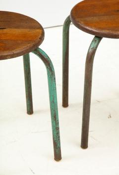 Jean Prouv Vintage Mid Century French Industrial Stools in the manner of Jean Prouve - 1866003