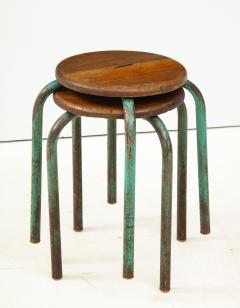 Jean Prouv Vintage Mid Century French Industrial Stools in the manner of Jean Prouve - 1866004