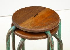 Jean Prouv Vintage Mid Century French Industrial Stools in the manner of Jean Prouve - 1866005