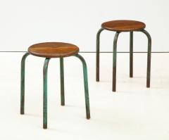 Jean Prouv Vintage Mid Century French Industrial Stools in the manner of Jean Prouve - 1866006
