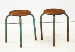 Jean Prouv Vintage Mid Century French Industrial Stools in the manner of Jean Prouve - 1866007