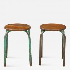 Jean Prouv Vintage Mid Century French Industrial Stools in the manner of Jean Prouve - 1873615