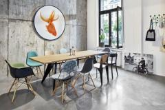 Jean Prouv Vitra EM Table in Asphalt HPL and Coffee by Jean Prouv  - 988661