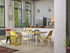 Jean Prouv Vitra EM Table in Asphalt HPL and Coffee by Jean Prouv  - 988663