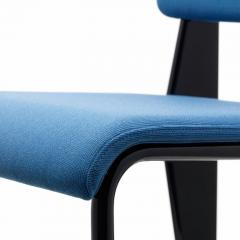 Jean Prouv Vitra Standard SR Chair in Indigo and Deep Black by Jean Prouv  - 988644