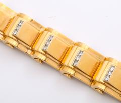 Jean Puiforcat Puiforcat Diamond and Gold Tank Bracelet - 2142584