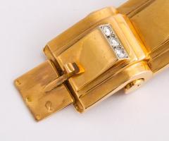 Jean Puiforcat Puiforcat Diamond and Gold Tank Bracelet - 2142585